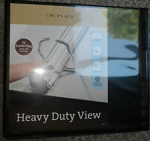 in place extra wide heavy duty view binders with ez comfort d ring