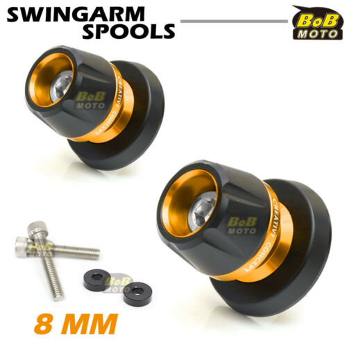 For Suzuki GSR600 06 07 08 09 10 11 12 13 BoB CNC Swingarm Spools