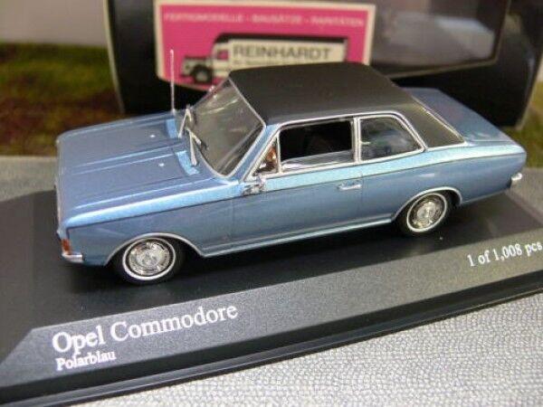 1 43 Minichamps Opel Commodore A 1966 bluemetallic