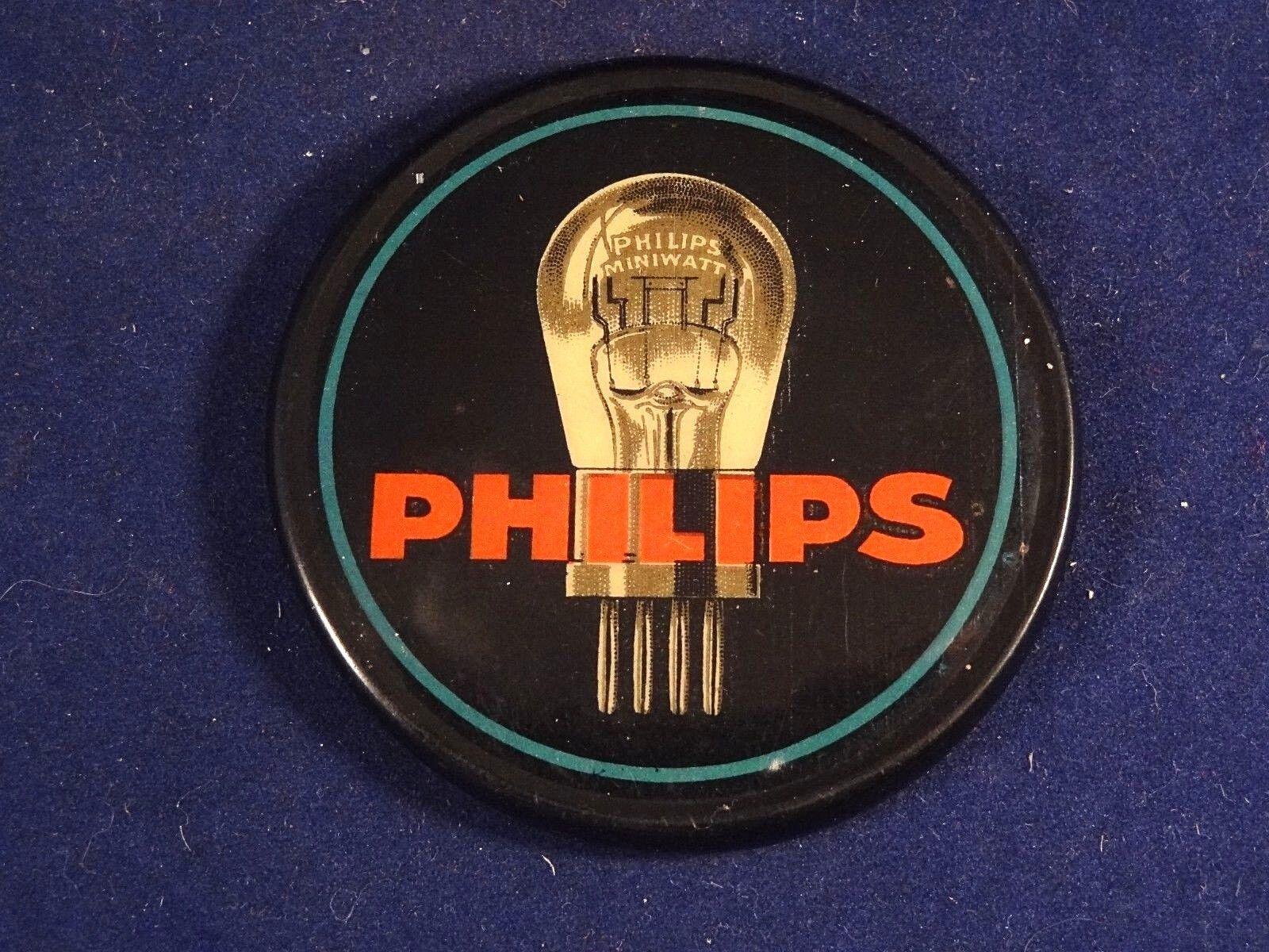 Des affiches pour des cadeaux, des rare coins coupés à envoyer! Joyeux Noël! Ancien rare des miroir de poche publicitaire ampoule PHILIPS électricité 5d453d