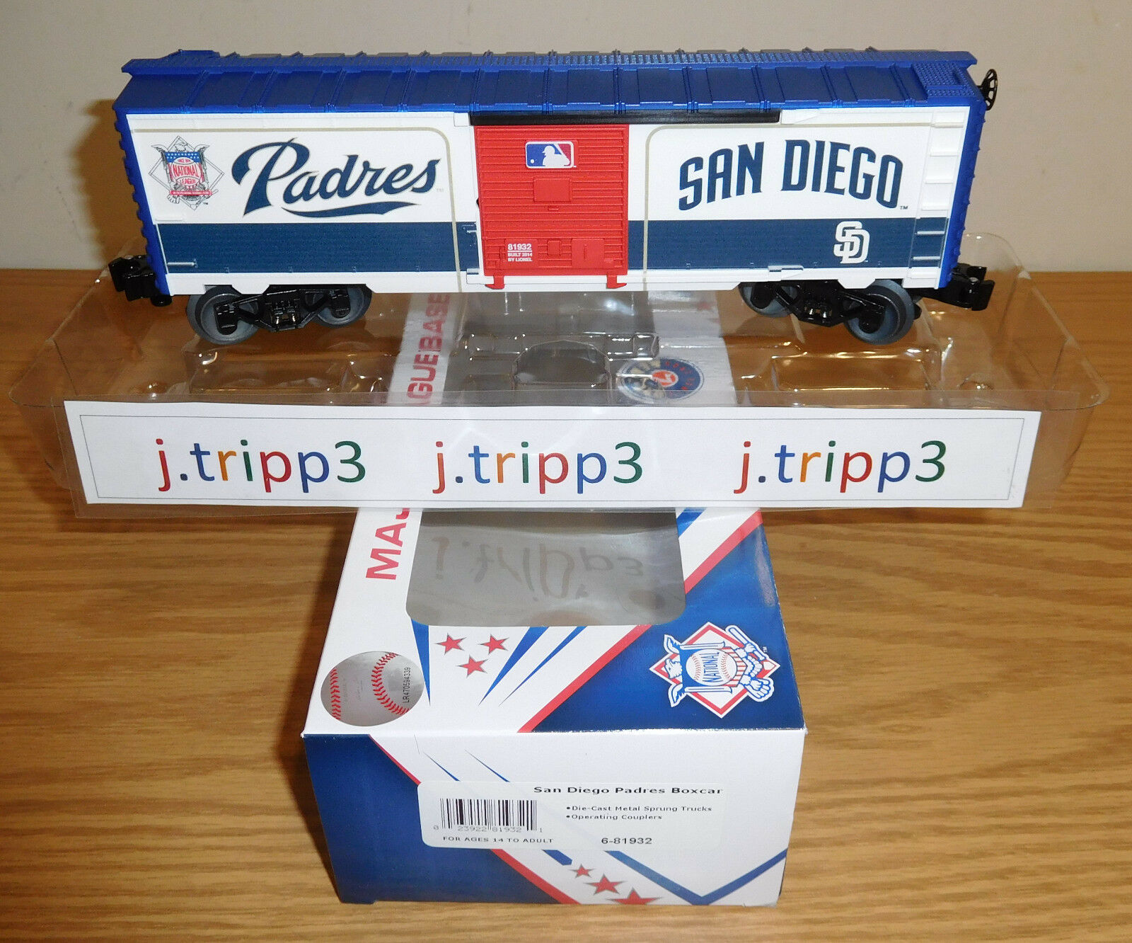 6-81932 O Scale Lionel San Diego Padres Box Car