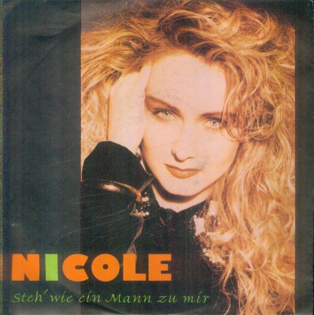 """7"""" Nicole/Steh´ Wie Ein Mann Zu Mir (1991)"""