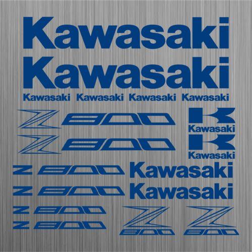 Kawasaki Z800 sticker decal motorcycle 18 Pieces