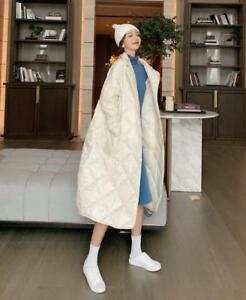 Lang Oversize Coat Lapel Down Apricot Solid Fashion Warm Bomuld Kvinder Parka naXqpfq