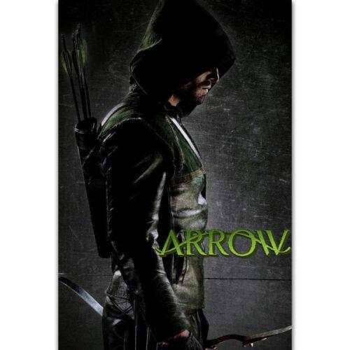 W809 Hot Green Arrow Oliver Queen DC TV Series Show Superhero Poster Silk Art