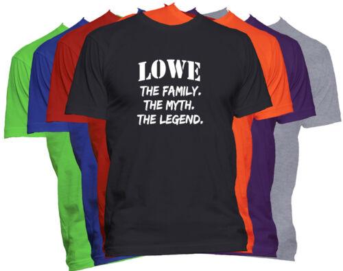 LOWE Last Name T Shirt Custom Name Shirt Family Reunion Family Name T Shirt