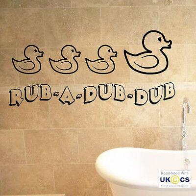 Rub a Dub Dub Vinyl Wall Art Children/'s Bathroom Decor