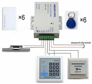 DIY-Full-RFID-Card-Door-Access-Control-Kit-With-Electric-Strike-Lock-Home-125KHZ