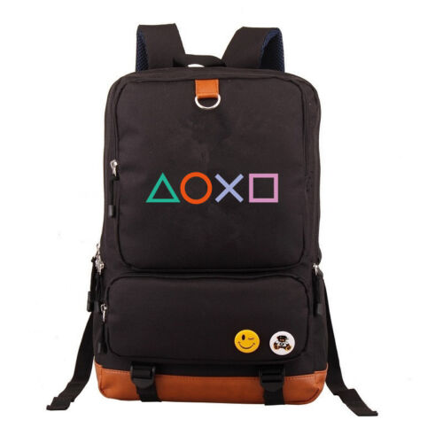 PlayStation Button Printed School Bags Backpack teenagers Unisex Laptop Bags