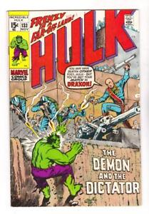 THE-INCREDIBLE-HULK-133-VF-NM-1st-APPEARANCE-of-DRAXTON-FREE-SHIPPING