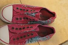 Ed Hardy shoes for women size 7, with the famous Ed Hardy art work on them.