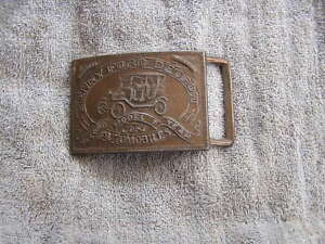Vintage-Belt-Buckle-Henry-Ford-Record-Year-Model-T