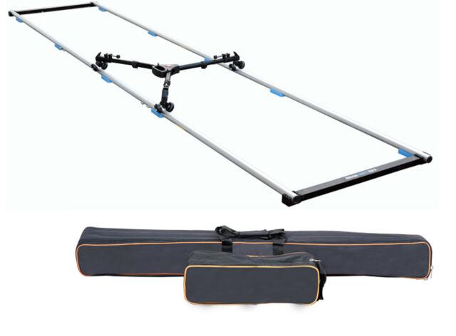 12ft LONG STRAIGHT ALUMINUM CAMERA TRIPOD DOLLY SLIDER TRACK Track Kit CASE