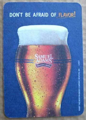 Boston Brewing MASSACHUSETTS 2007 SAMUEL ADAMS BEER Don/'t Be Afraid COASTER Mat