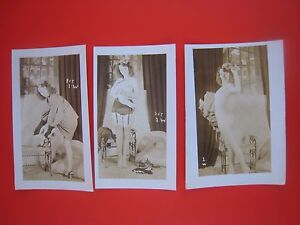 ORIGINAL 1950S PINUP PHOTO SET...Lot # 541-49..Risque,Nude