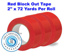 """2 Rolls Blackout 3/"""" Block Out Tape Silk Screen Printing 3/"""" x 40 yards"""