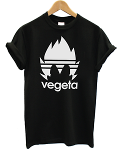 Men/'s VEGETA Sports logo commedia T-Shirt in edizione limitata Dragon Ball Z