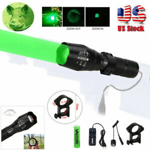 Zoom Green/Red Coyotes Flashlight Deer Blood Tracker Deer Night Light for Hog US