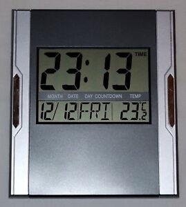 Design-Digital-Uhr-Wanduhr-12-24-Stunden-Datum-Kalender-Alarm-Timer-Snoze-3886