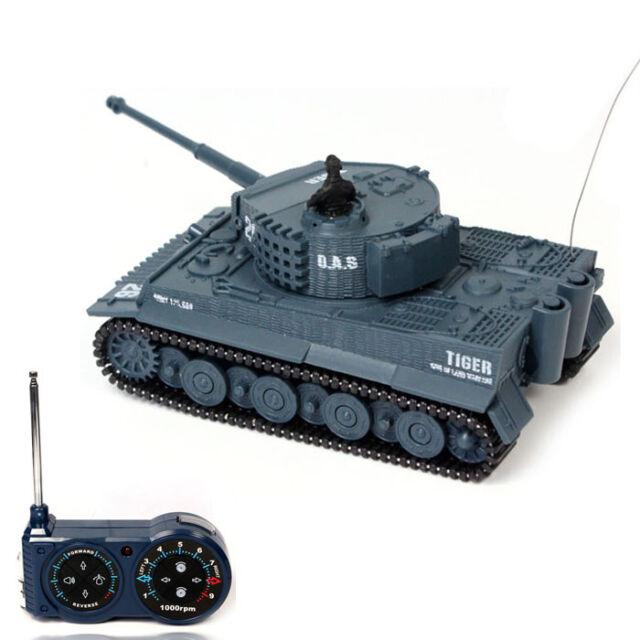 1:72 49MHz R/C Radio Remote Control Tiger Tank 20M Kids Toy Gift Grey Cuddly