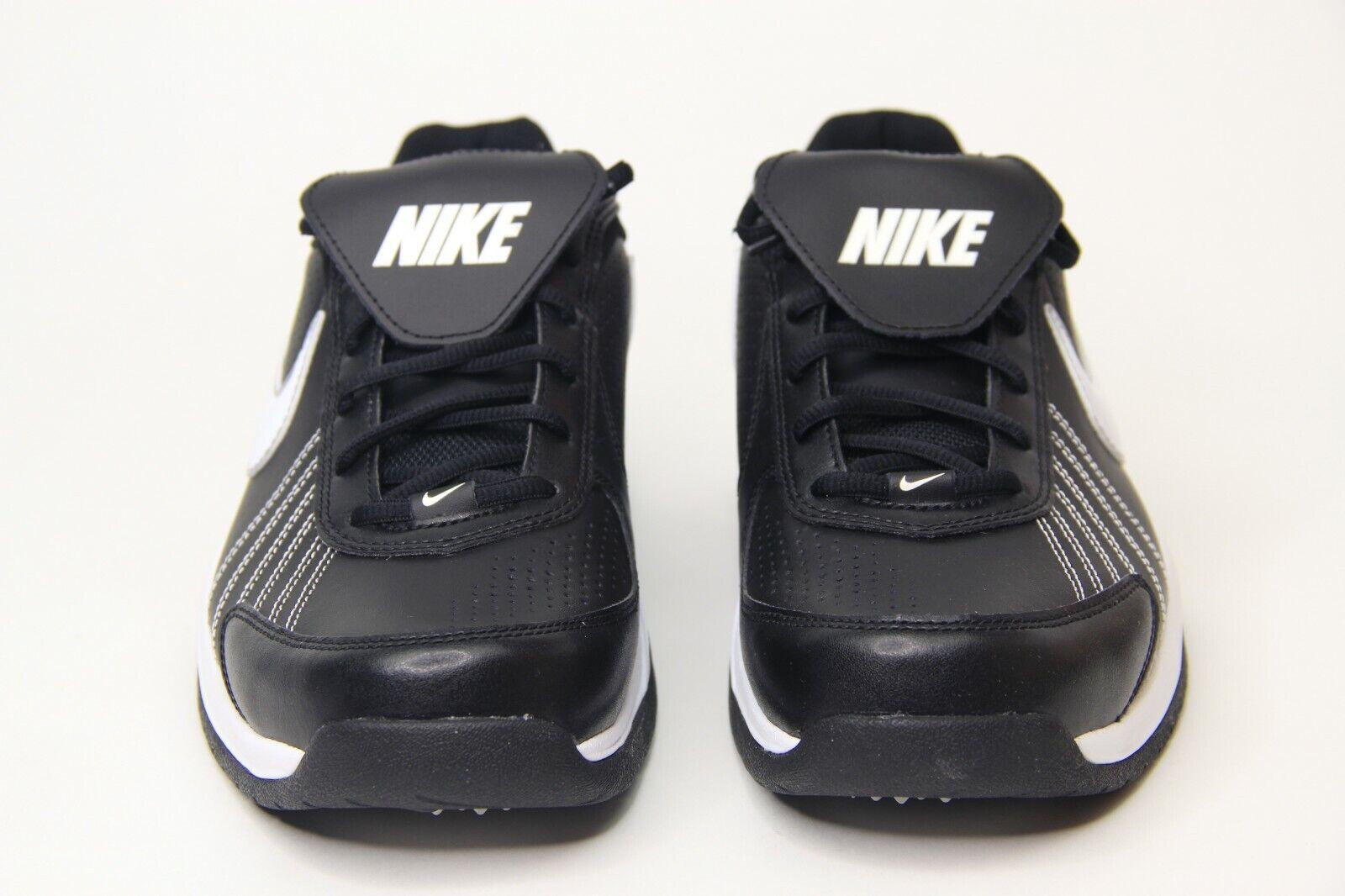 Nike Air Diamond Baseball Trainer Turf shoes Black White 333785-012 Men SZ New
