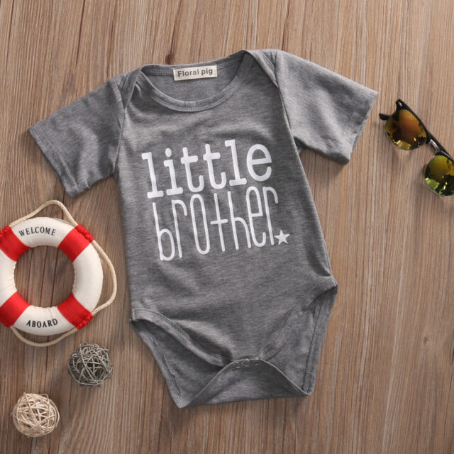 Baby Boy Little Brother Romper Bodysuit Big Sister T-shirt Tee Matching Outfits