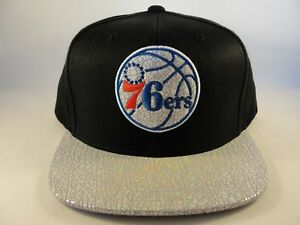official photos d594c 3463f Image is loading Philadelphia-76ers-NBA-Mitchell-amp-Ness-Snapback-Hat-
