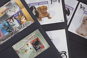 Grenada 2008-12 Mint MNH 6 Minisheets Domestic Cats & Dogs of World Spaniel Dane