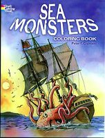 Sea Monsters Coloring Book By Peter Copeland (paperback, New) Dover