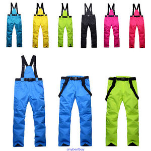 Women-amp-Mens-Windproof-Overall-Ski-Snow-Pants-Insulated-Waterproof-new-Winter