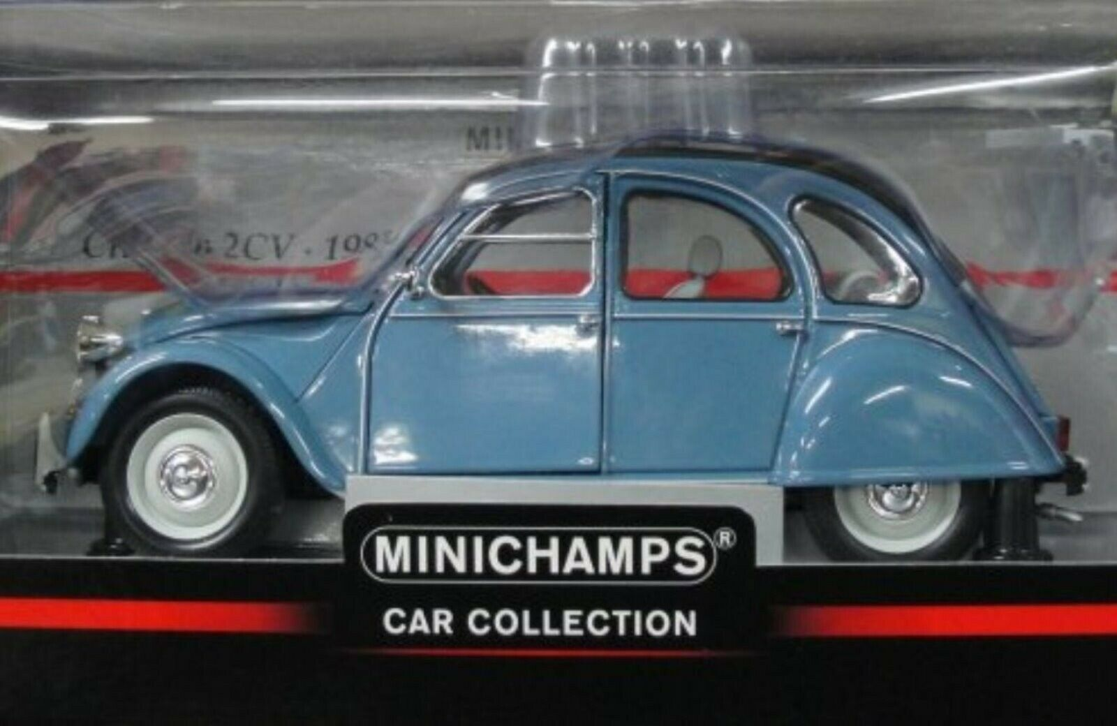WOW EXTREMELY RARE Citroen 2CV Roll Roof 1983 Pastel bluee1 18 Minichamps