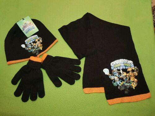 Brand New Boys Skylanders Giants Hats Gloves /& Scarf Set ORANGE// BLACK