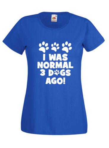 I Was Normal 3 Dogs T Shirt Novelty Mens Ladies Birthday Xmas Gift Slogan Kids