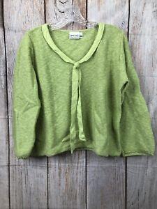 Habitat-Made-in-USA-Green-Knit-3-4-Sleeve-Sweater-EUC-Women-039-s-Size-SM