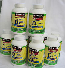 Kirkland Vitamin D3 2000 IU  600 Softgels ~Extra  Strength~ Long Exp.Date