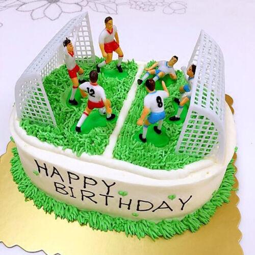 8 teile satz Fußball Fußball Cake Topper Player Geburtstagstorte Dekoratio  ov