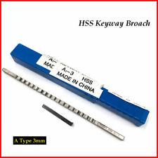3mm A Push Type Keyway Broach Cutter Hss Metric Size Cnc Machine Cutting Tool