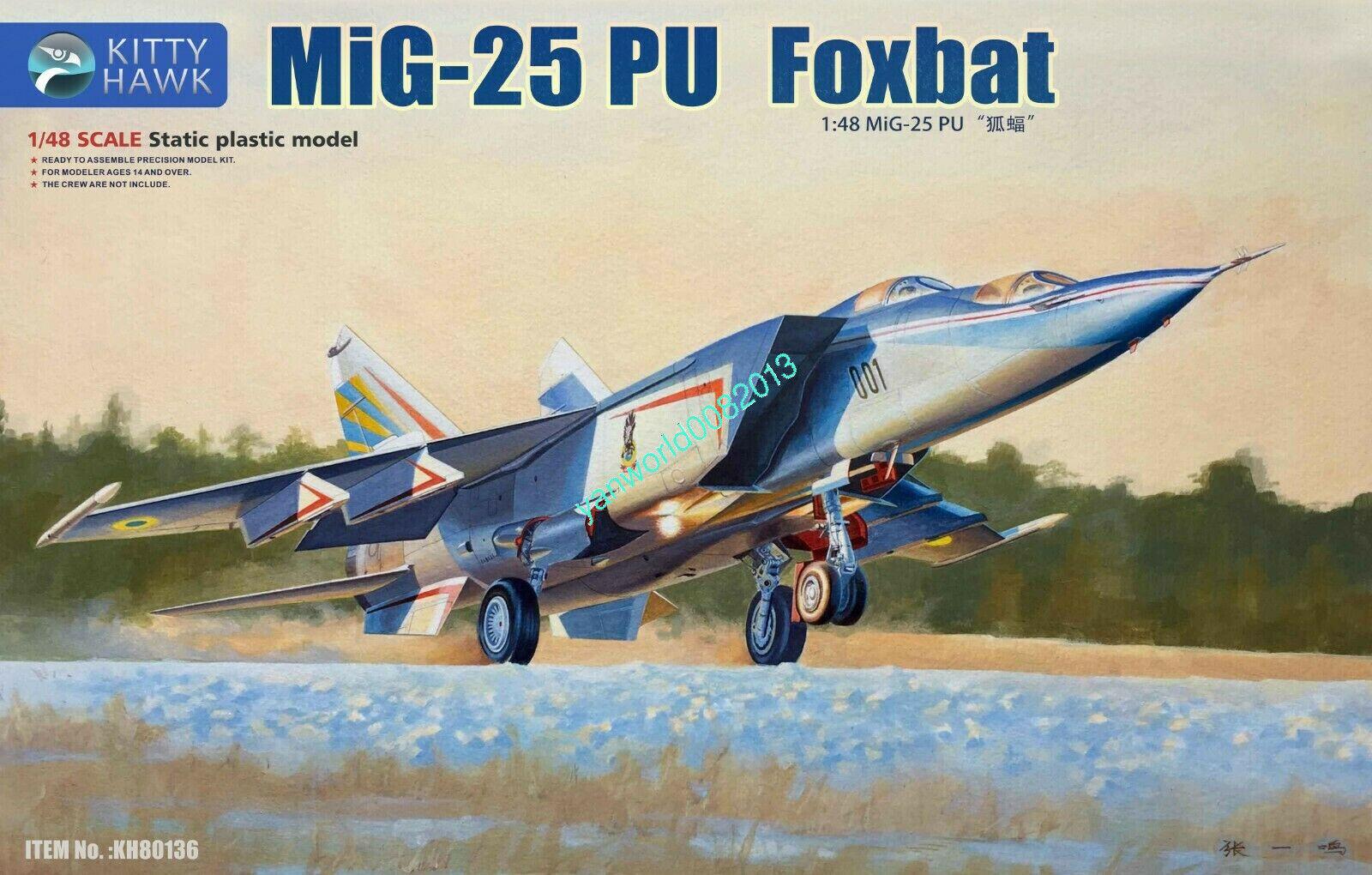 Kitty Hawk KH80136 1 48 Mig-25 PU Foxbat Model Buidling Kit,Released 2019 NEW