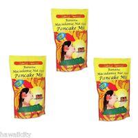 Hawaiian Banana Macadamia Nut Pancake Mix - Three 6 oz bags