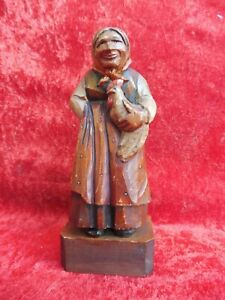 Beautiful, old Wooden Figure, Wood Carved And Painted, Süd- Tyrol, Nr.6