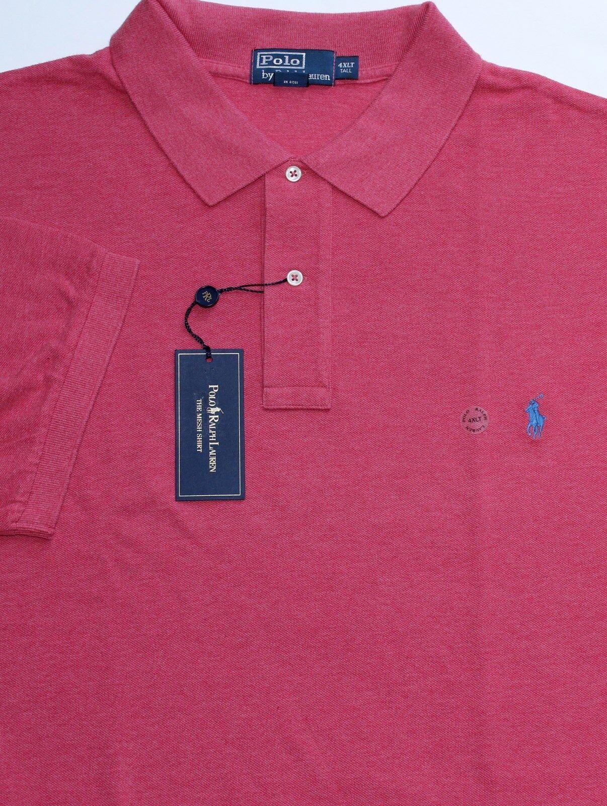 0cc54b0cb New Polo Ralph Lauren Red Heather Cotton Mesh Polo Shirt Medium ...