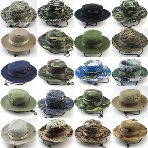 Bucket-Hat-Brim-Hunting-Fishing-Outdoor-Cap-Wide-Military-Unisex-Sun-Camo-Boonie
