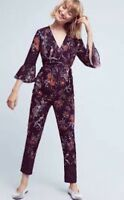 Espoir Jumpsuit Size 10p P10 Maeve Floral Bird Print