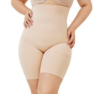 a4e80ede78f Women s Plus Size High Waist Control Panties Shapewear Thigh Slimmer ...