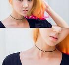Women's Black Gothic Retro Charm Velvet Choker Necklace Bead Pendant Boho Silver