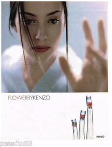 PUBLICITE ADVERTISING 105  2002  KENZO  parfum feemme FLOWER