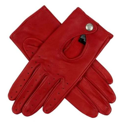 Dents Thruxton Women's Leather Classic Driving Gloves BERRY
