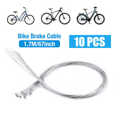 10Pcs 1.75M Road Mountain Bike Bicycle Stainless Steel Brake Inner Wire Line USA