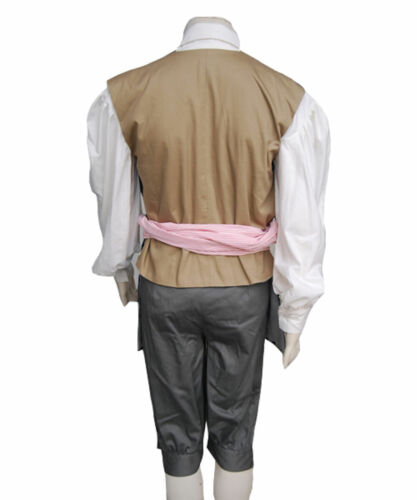 Details about  /Pirates of The Caribbean 4 Jack Sparrow Cosplay Costume Jack Sparrow Vest Only
