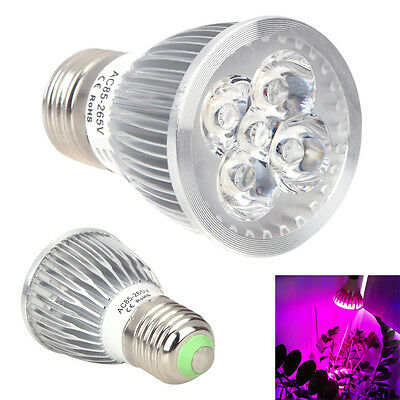 5W E27 5 LED Plants Grow Light Indoor Greenhouse Hydroponics Growth Lamp Bulbs